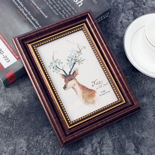 앤틱무드 사진 액자(4x6) (브라운) 탁상용 포토액자