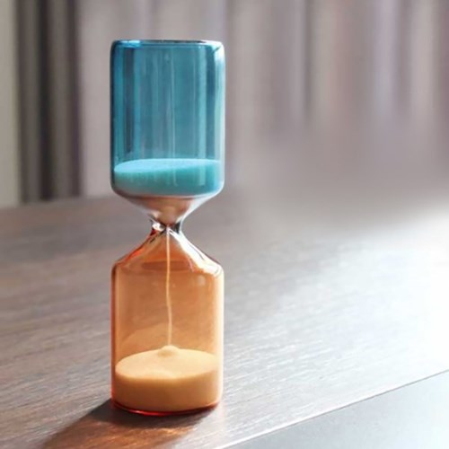글라스 실린더 모래시계 15분 인테리어 타이머