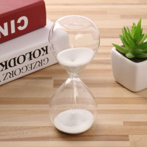 글라스타임 유리 모래시계(화이트) 10분 사우나타이머