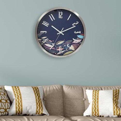 파인아트 나뭇잎 원형 벽시계 / 아날로그 벽걸이시계
