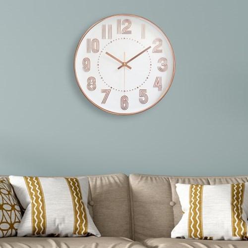 라인 원형 벽시계(로즈골드)/ 디자인 벽걸이시계