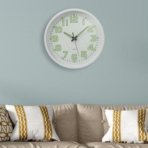 타임글로우 원형 야광 벽시계 / 아날로그 벽걸이시계