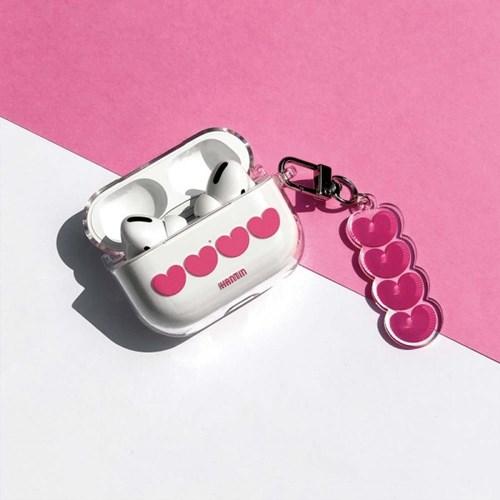 4 pink hearts 에어팟 (프로) 케이스