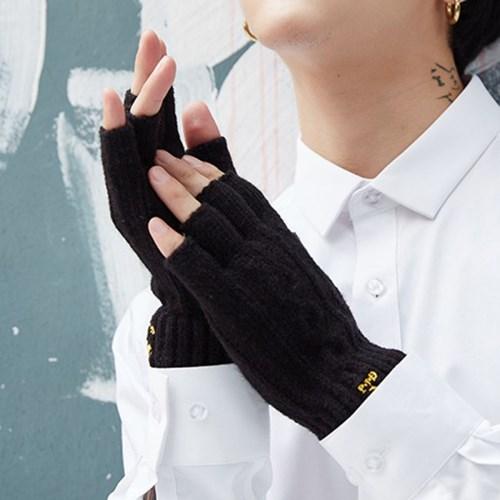 빈센트 남성 반장갑 손가락 겨울 니트장갑