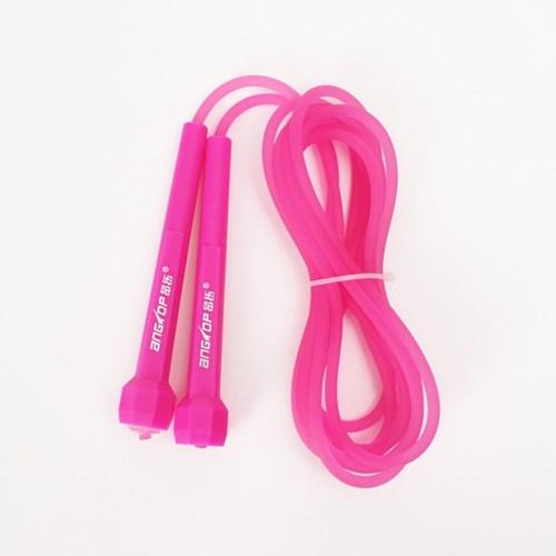 프로 고무 컬러 줄넘기(핑크)/다이어트줄넘기 성인용