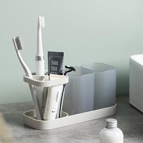 멀티 칫솔거치대+양치컵 세트 욕실 다용도 칫솔꽂이