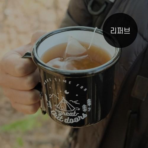 [리퍼브] 뚝배기패밀리 디자인 감성 캠핑컵 350ml 2개 세트