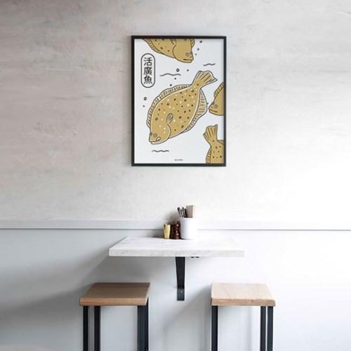광어 M 유니크 인테리어 디자인 포스터 일식당 스시 회