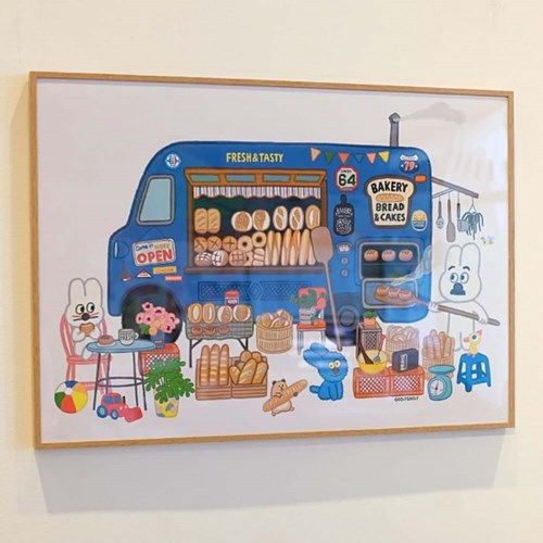 굴리굴리 포스터 BREAD BAKERY (090)