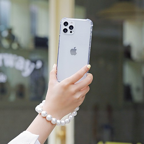 TR 투명젤하드범퍼 줄 끈 핸드폰 스트랩 아이폰 케이스