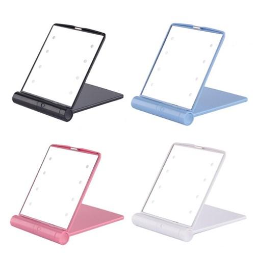 LED 접이식 양면 손거울 조명 미러라이트