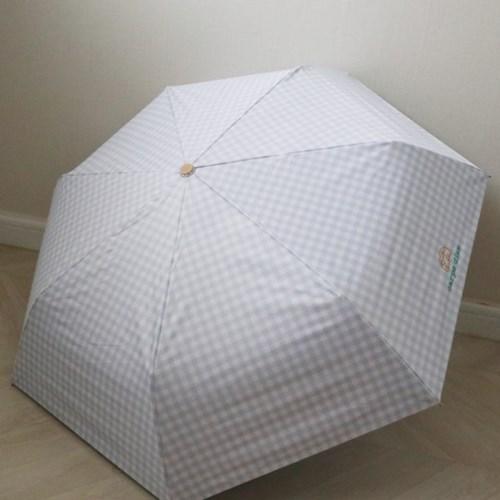 체크 자수 UV차단 암막3단 20대 양산 우산 우양산 (4color)