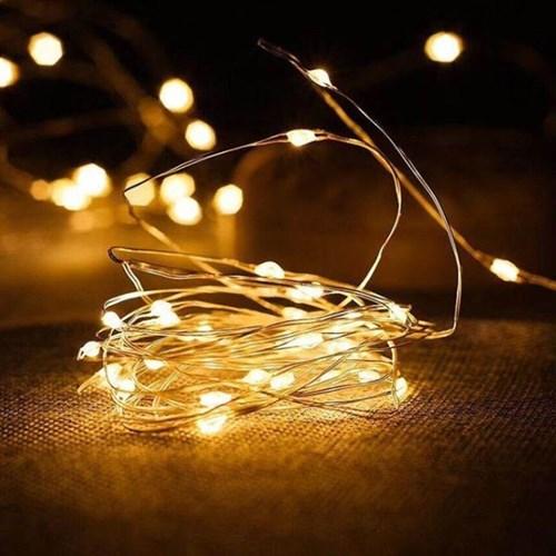 LED 와이어 전구 2m 건전지 줄조명