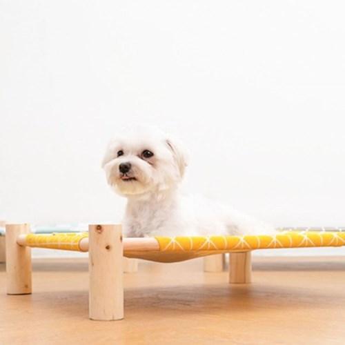 강아지 고양이 원목침대 해먹 사계절용 침대 방석