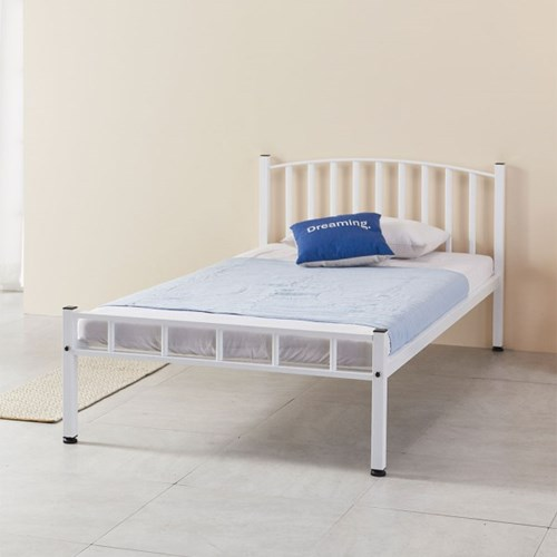 루엔 철재 곡선형 침대 프레임 슈퍼싱글