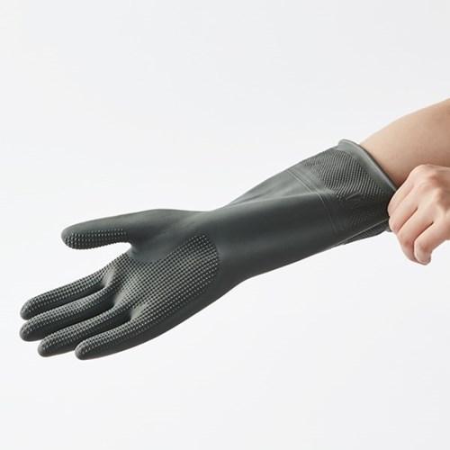 [한샘] 오버핏 고무장갑 중 그레이 - 주방장갑 수세미