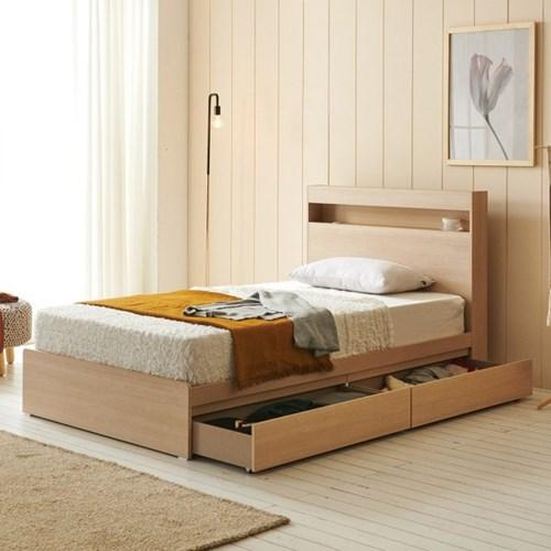 에프리 서랍수납 침대 슈퍼싱글+본넬 매트리스