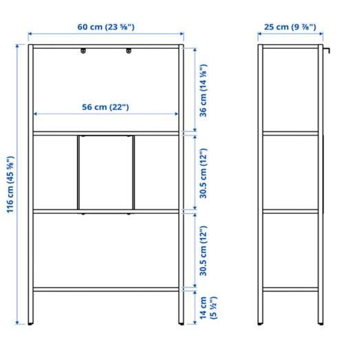 이케아 BAGGEBO 선반진열대 (화이트)/철제선반/4단선반