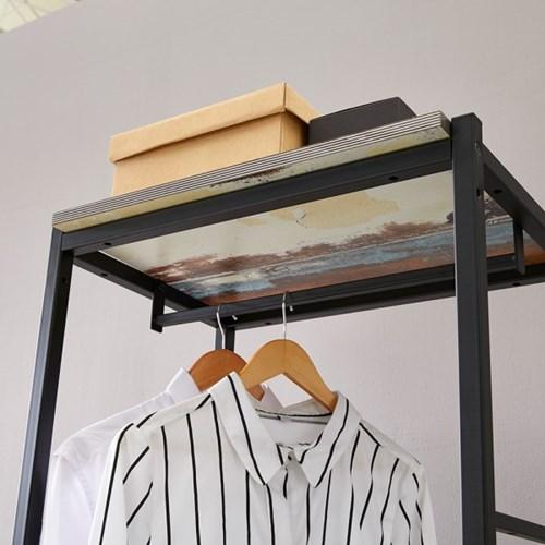 블린홈 4단서랍장 800 옷걸이 드레스룸 시스템 행거
