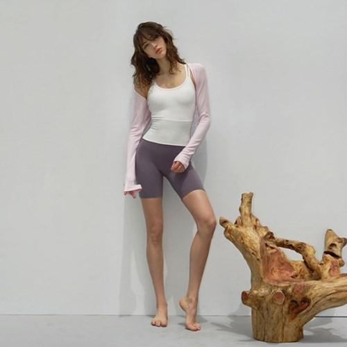 여성 요가복 DEVI-T0064-핑크 필라테스 볼레로 커버티