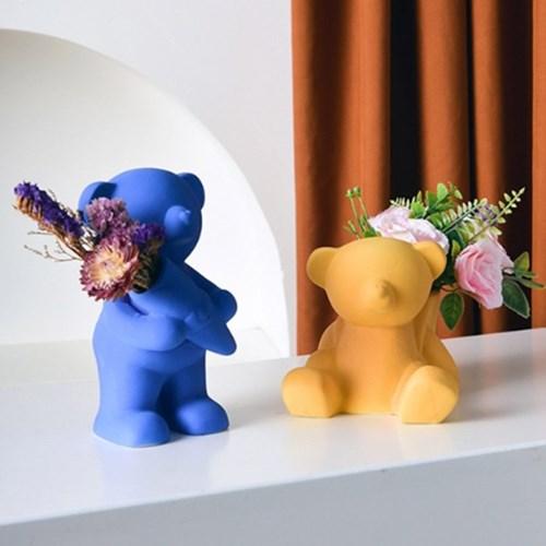 컬러베어 화병 펜꽂이 곰돌이오브제 4colors