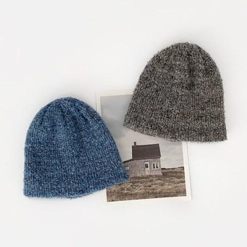 부클 믹스 비니 겨울 방한 털 모자