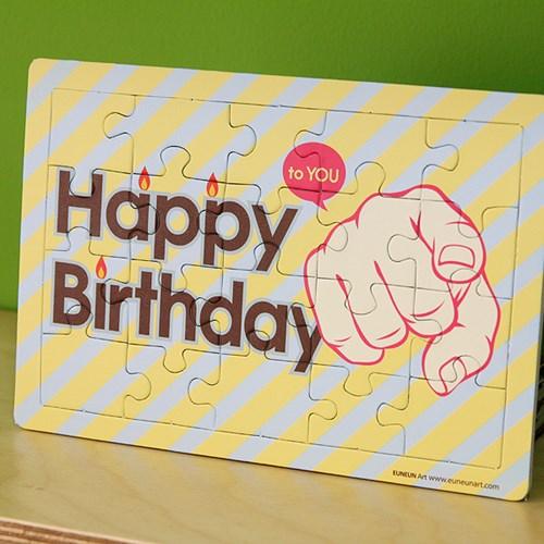 퍼즐카드-Happy birthday