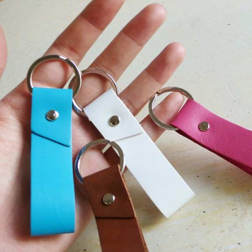 Basic Leather Keyring2