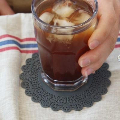 실리콘 레이스 도일리페이퍼 컵받침 4컬러