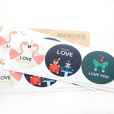 일러스트 LOVE 스티커 3종세트 (9개)
