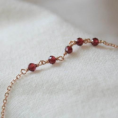 가넷 브릿지 팔찌(1월탄생석)garnet bridge bracelet