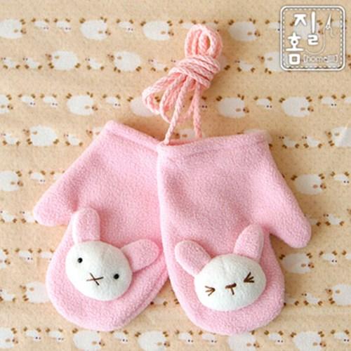 [DIY]토끼 목도리&장갑 만들기