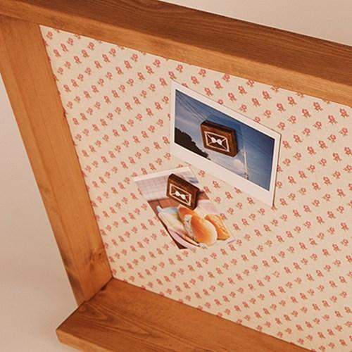 셋트] 원목린넨 메모판 & 나무자석