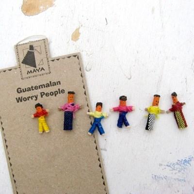 과테말라 꼬마 걱정인형 6명 상자 세트