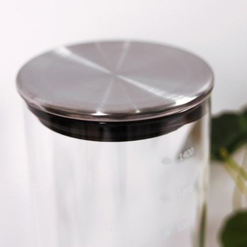 스텐 내열유리 원통 캐니스터(30cm)