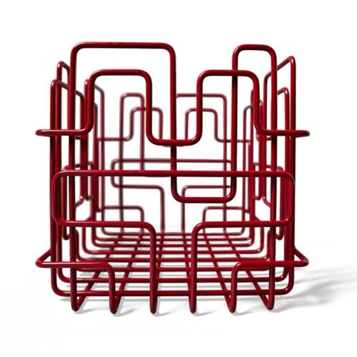 Block basket magazine storage - Red