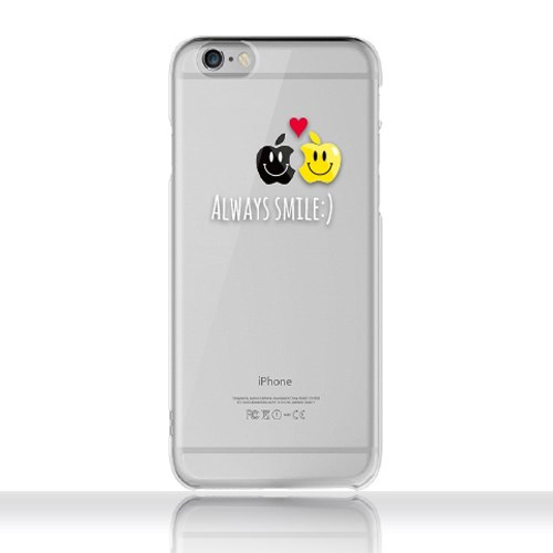 [투명하드젤리]아이폰전용-스마일애플 (이니셜서비스)