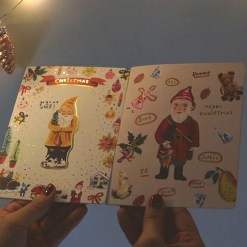 나탈리레테 크리스마스 카드 FOIL