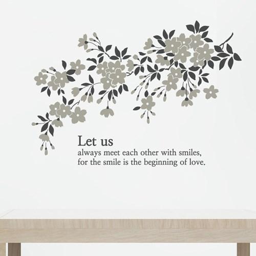 꽃나무 S670-플라워  벽 장식 그래픽 스티커 인테리어_(1975717)
