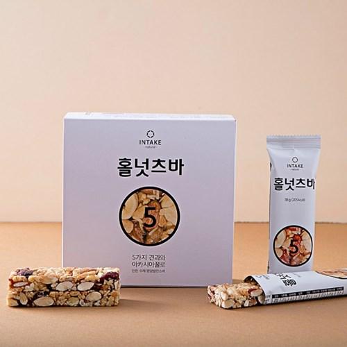 [선물용쇼핑백증정] 5가지견과와 꿀로 만든 홀넛츠바 10개세트