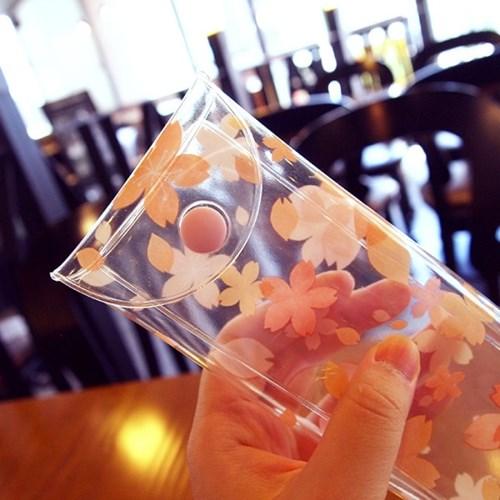 문쓰프렌즈 벚꽃 펜슬파우치
