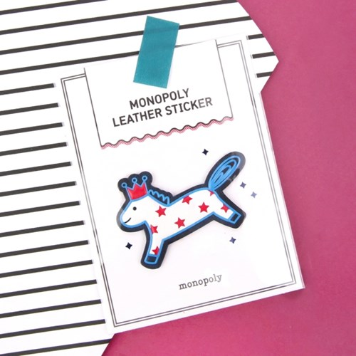 MONOPOLY LEATHER STICKER [PONY]