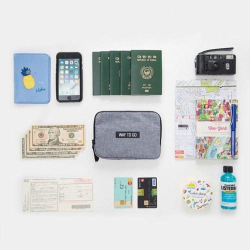 FAMILY PASSPORT BAG & POUCH