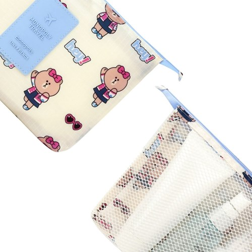 [LINE FRIENDS] MESH POUCH (L)