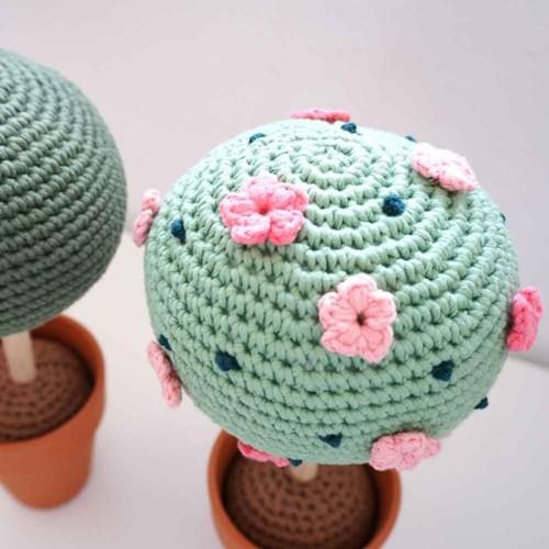 [손뜨개 DIY] 솜사탕 꽃나무