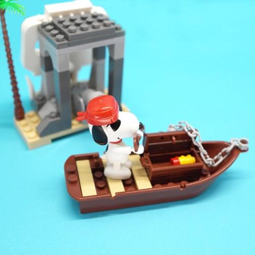 피넛츠(스누피) 블록 Fierce Pirate 해골섬