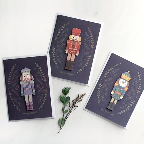 디비디 크리스마스 카드 - Wooden