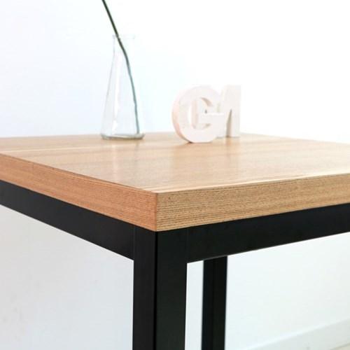 600사각 카페테이블 천연무늬목 티테이블, 멀바우, 나왕, 아카시아