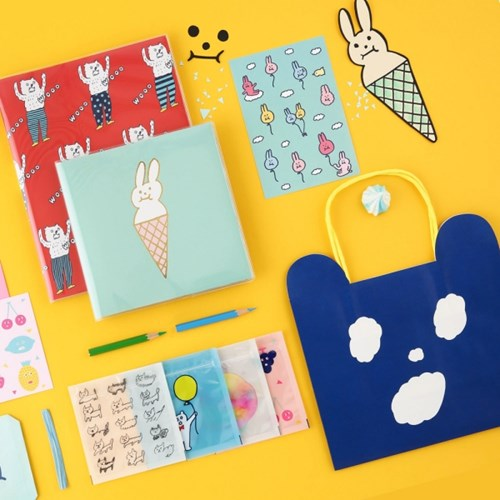 [AIUEO] KUMA Paper bag S size (2 options)