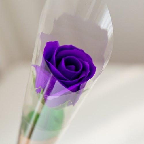 심플 한송이 비누장미 크라프트꽃다발 [5color]_(555357)